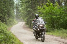 Hans was enjoying the forest trails, he had ridden bitumen roads rougher than this.