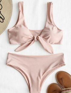 bc0a67f703 Pink Knot Bikini Bathing Suit. Zaful BikinisTrendy ...