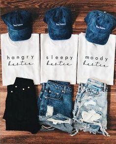 Best Friend T Shirts, Bff Shirts, Cute Shirts, Matching Outfits Best Friend, Best Friend Outfits, Bffs, Bestfriends, Funny Outfits, Cute Casual Outfits