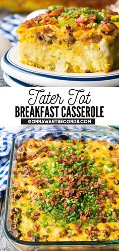 307 reviews · 60 minutes · Gluten free · Serves 8 · *NEW* Tater tot breakfast casserole is a full-flavored combination of all your favorite breakfast foods layered into a delicious one-dish meal perfect for a weekend breakfast, family brunch, or church…