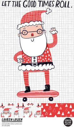 lauren lowen skateboard Santa