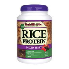 Rice Protein, Mixed Berry 21oz.