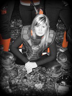 Softball catcher portrait