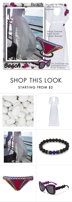 """""""The Big Cover-Up"""" by paculi ❤ liked on Polyvore featuring kiini, vintage and coverups"""