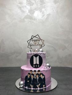 Army Birthday Cakes, White Birthday Cakes, Funny Birthday Cakes, Bithday Cake, My Dream Cake, Bts Cake, Army Cake, Bts Birthdays, Cake Gallery