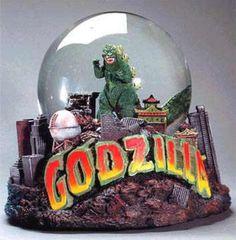 Godzilla snowglobe