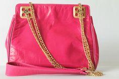 Vintage Purse Hot Pink Handbag  Vintage Leather  от EarthsTrove