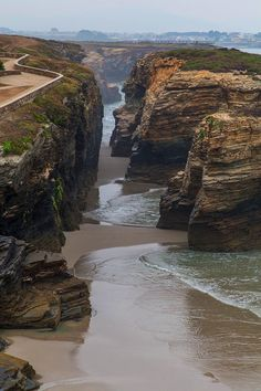 The Most Exotic Beaches In The World | Beach of the Cathedrals (Playa de las Catedrales) | Ribadeo, Spain | Travel #spainbeaches