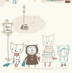 ~Illustration by Nicola Pearson, freelance graphic designer <> (kids, children)