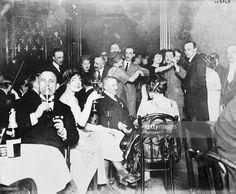 March 15,1920 A typical scene in a Berlin nightclub where Germany's war profiteers reveal orgies of extravagance while thousands of others in the city are starving. The majority of Berlin's 'new rich' thus squander their wealth in feverish gaiety.