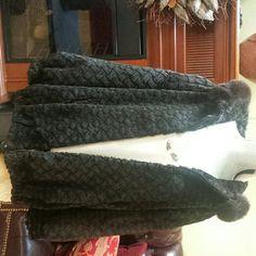Vintage Puffer coat with fur hood Classy Dark brown  puffer coat with real fur around the hood Neiman Marcus Jackets & Coats Puffers