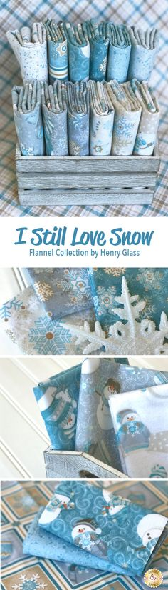 I Still Love Snow by Shelly Comiskey for Henry Glass Fabrics is a wonerful winter flannel collection available at Shabby Fabrics