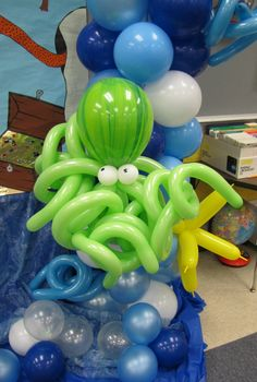 Party People Celebration Company - Special Event Decor Custom Balloon decor and Fabric Designs: Under The Sea Spring Voyage Valleyview 2010 Photo Backdrop