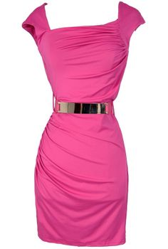 Elle Woods Belted Pink Bodycon Dress www.lilyboutique.com