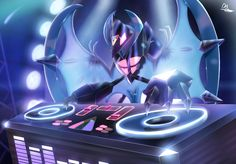 ...alright fine! the title was a bad joke... :c But seriously, that's the first thing that popped into my head when i saw this design¯\_(ツ)_/¯ Ultra Lunala Look like a DJ! or...