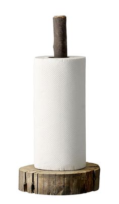 Wooden Paper Holder | Plümo Ltd · Rustic Paper Towel HoldersWooden ...