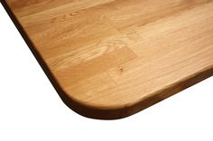Choose an edge profile to soften your oak worktop, like the pencil top shown here.  There are a number of options to choose from on our accessible fabrication page. http://www.worktop-express.co.uk/wood_worktops/oak_worktops.html