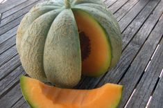 An early, sweet, orange-fleshed melon with a netted rind. Organic Seeds, Fruit, Home Remedies, Cantaloupe, Vegetables, Vegetable Gardening, Sweet, Candy, Backyard Farming