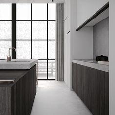 Best Simple Kitchen Designs Ideas for Small House Decoration Simple Kitchen Design, Interior Design Kitchen, Home Decor Kitchen, Home Kitchens, Rustic Kitchen Cabinets, Apartment Design, Interior Architecture, Villa, Decoration