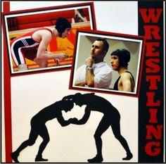 EZLaserDesigns : Wrestling Pin 2 Win Art Sample (My husband, Matt and son, Griffyn). #wrestling #scrapbooking