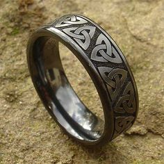 Celtic Wedding Ring For Men Mens Celtic Rings, Celtic Wedding Rings, Celtic Knot, Viking Wedding, Engagement Rings For Men, White Gold Wedding Bands, Fashion Rings, Jewelry Rings, Jewlery