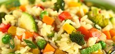 Rainbow Risotto - This recipe was taken from The Chopra Center Cookbook, which is based on the ancient healing wisdom - Vegetable Recipe For A Crowd, Vegetable Recipes Easy Healthy, Grilled Vegetable Recipes, Healthy Food, Healthy Eating, Talipia Recipes, Mousaka Recipe, Kohlrabi Recipes, Ayurvedic Recipes