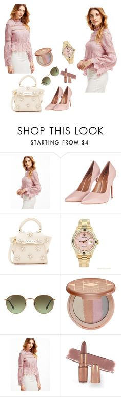 """""""sheinfashion"""" by mersy-123 ❤ liked on Polyvore featuring Topshop, ZAC Zac Posen, Rolex, Ray-Ban and tarte"""