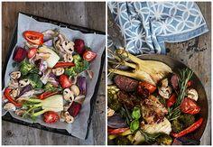 Ofengemüse, Speck, Gemüse, ovenvegetables, vegetables, healthy, easy, schnell, einfach, Rezeptidee, leicht, Kräuter, herbs, recipeinspiration