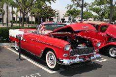 1955 Chevrolet Bel Air cnv - red white - fvr