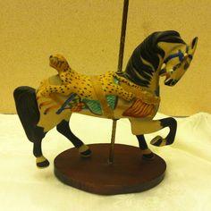 Leopard Saddle Horse Figurine Franklin Mint 1988 Treasury Of Carousel Art
