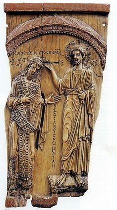 Christ crowning Constantine VII ivory plaque, ca. 945.