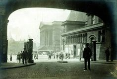 Looking out of Lime Street Station