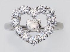 Hello Kitty Face Heart CZ Silver Ring Fashion Jewelry Sanrio from Japan J2023    eBay