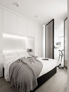 Bedroom Design Ideas – 8 Ways To Create The Ultimate Bed Surround With Storage // Hide The Lighting -- Building your lighting right into the storage brightens up your bed and storage areas, provides you with the perfect reading light, and gives you more freedom to store things in the places where bulky light fixtures would have gone.