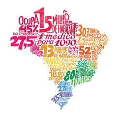 Typography map of Brazil by Jackson Alves, via Behance