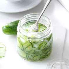 Freezer Cucumber Pickles Recipe