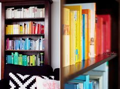 A rainbow in my bookshelf