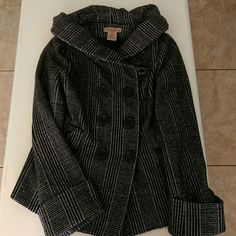 Plaid Coat The coast is actually a dark brown with a cream color. It is perfect for the winter:) FINAL PRICE. Paris Blues Jackets & Coats