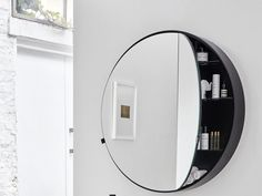 Download the catalogue and request prices of I catini round box By ceramica cielo, round wall-mounted mirror with cabinet design Andrea Parisio, Giuseppe Pezzano, i catini Collection