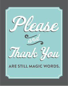 Magic words...