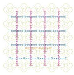 Tutorial: manta con flores pequeñas tejidas a crochet