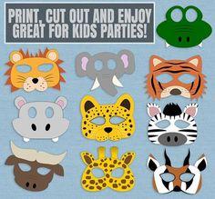 Resultado de imagen para safari masks printable