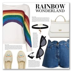"""""""Celebrate Pride Month!"""" by myduza-and-koteczka ❤ liked on Polyvore featuring Marc Jacobs, Valentino, Anja, Dolce&Gabbana, Betsey Johnson and Sephora Collection"""