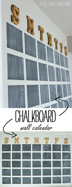 Chalkboard Wall Calendar DIY - It All Started With Paint More