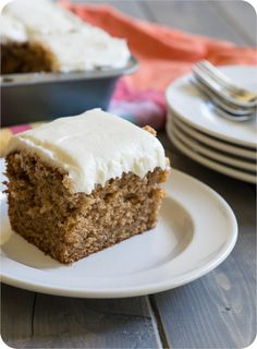 I'm so in love with this cake! > Old-Fashioned Spice Cake with Cream Cheese Frosting