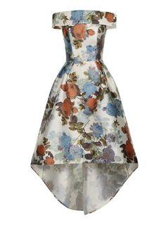 **Chi Chi London Bardot dip him dress, £64.99, Sizes 8-14.