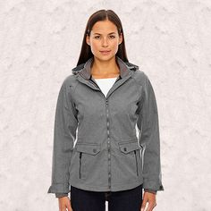 Ash City-North End-UPTOWN LADIES 3-LAYER LIGHT BONDED CITY TEXTURED SOFT SHELL