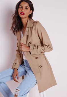 Double Breasted Belted Trench Coat - Coats and Jackets - Missguided