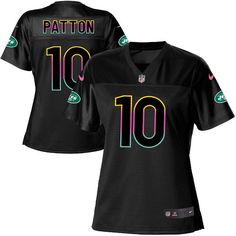Women's Nike New York Jets #10 Quinton Patton Game Black Fashion NFL Jersey