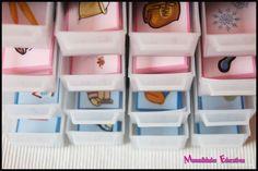 Targetes Montessori (sèrie rosa) en lletra d'impremta.